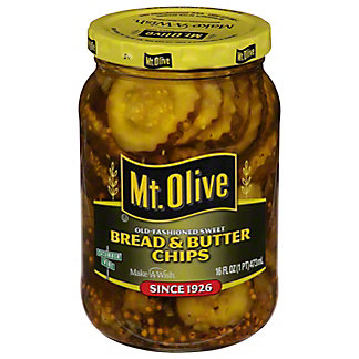 Mt. Olive Old Fashioned Sweet Bread and Butter Chips, 16 oz