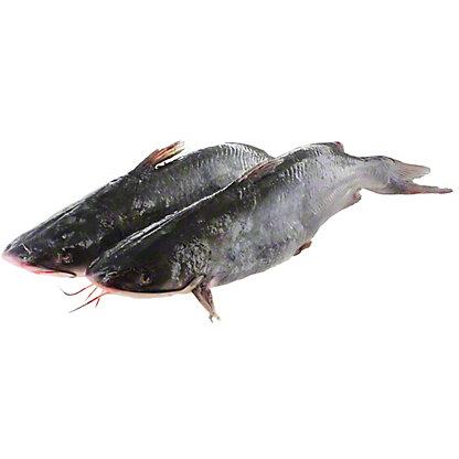 Fresh Whole Head On Catfish, lb