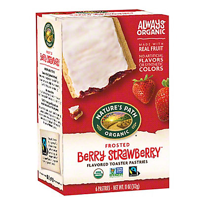 Nature's Path Organic Frosted Strawberry Toaster Pastries,6.00 ea