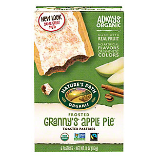 Nature's Path Organic Frosted Apple and Cinnamon Toaster Pastries,6 CT