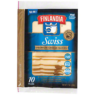 Finlandia Sandwich Naturals Imported Swiss Cheese Slices,7 OZ