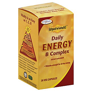 Enzymatic Therapy Fatigued to Fantastic! Daily Energy B Complex Veg Capsules,30 CT