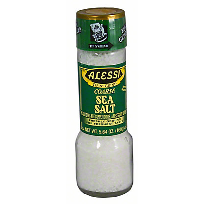 Alessi Tip N' Grind Large Sea Salt with Grinder,5.64 oz
