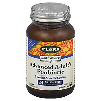 Flora Udo's Choice Advanced Adult's Probiotic Vegetarian Capsules,30 CT