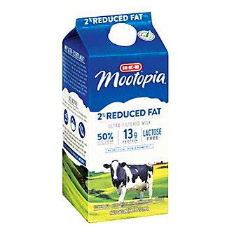 H-E-B MooTopia Lactose Free 2% Reduced Fat Milk, 1/2 gal
