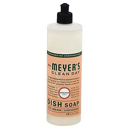 Mrs. Meyer's Clean Day Geranium Liquid Dish Soap,16 OZ