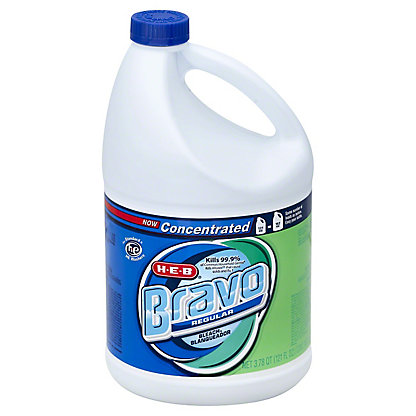 H-E-B Bravo Concentrated Regular Bleach,121 OZ