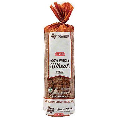 H-E-B Bake Shop 100% Whole Wheat Bread,24 OZ