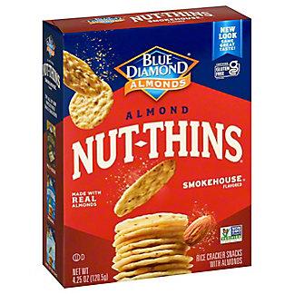 Blue Diamond Nut-Thins Smokehouse Nut And Rice Cracker Snacks, 4.25 oz