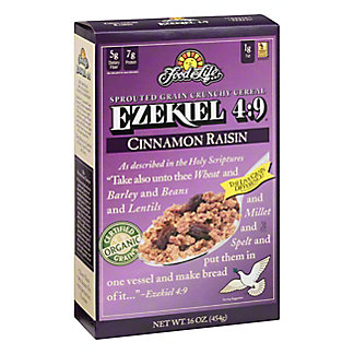 Food For Life Ezekiel 4:9 Cinnamon Raisin Cereal, 16 oz