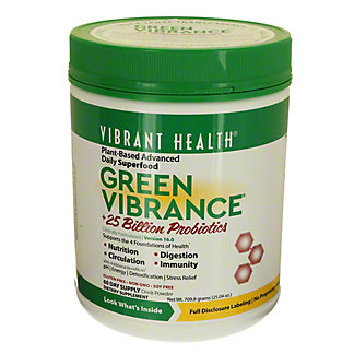 Vibrant Health Green Vibrance Organic Greens And Freeze Dried Grass Juices Powder, 24 oz