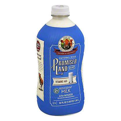 Promised Land Reduced Fat 2% Milk, 52 oz