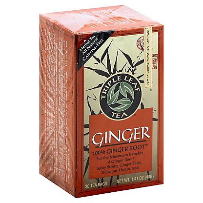 Triple Leaf Tea Ginger Herbal Tea Bags, 20 ct