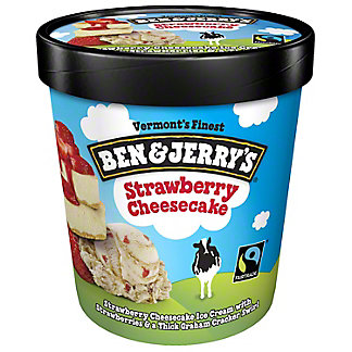 Ben & Jerry's Strawberry Cheesecake Ice Cream, 1 pt