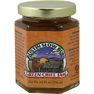 Austin Slow Burn Green Chili Jam,6.3 OZ