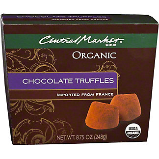 Central Market Organic Chocolate Truffles, 8.75 oz