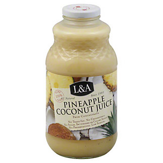 L&A Pineapple Coconut Juice, 32 oz