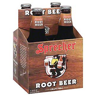 Sprecher Root Beer Soda, 4 - 16 oz bottles