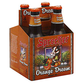 Sprecher Orange Dream Soda,4 PK