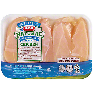H-E-B Natural Boneless Chicken Breast Tenders