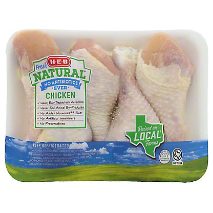 H-E-B Natural Chicken Drumsticks