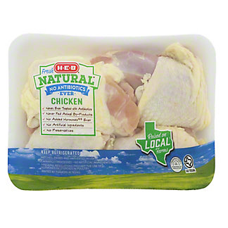 H-E-B Natural Bone In Chicken Thighs