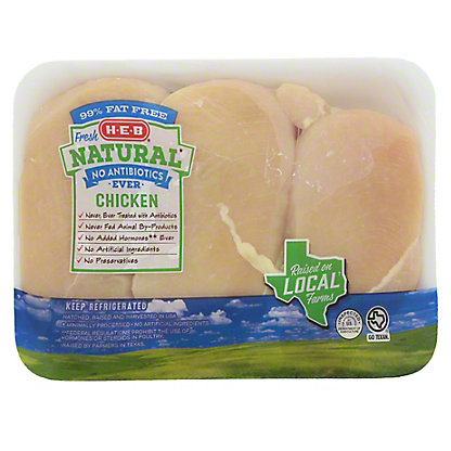H-E-B Natural Boneless Skinless Chicken Breasts