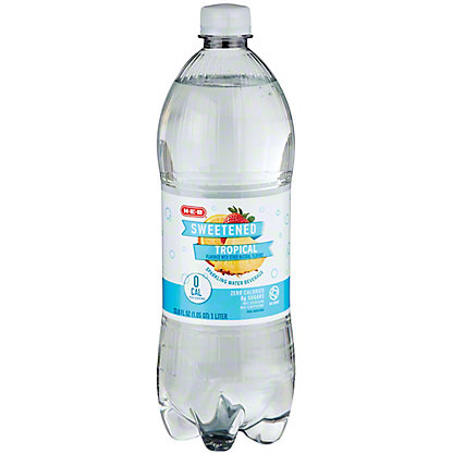 H-E-B Sparkling Tropical Fruit Water Beverage, 1 L