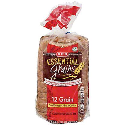 H-E-B Essential Grains 12 Grain Bread,24 OZ