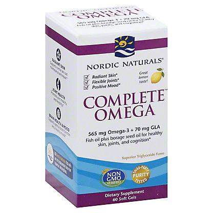 Nordic Naturals Complete Omega 3 6 9 1000 Mg Soft Gels Lemon 60