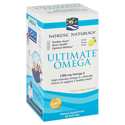 Nordic Naturals Ultimate Omega 1000 mg Soft Gels, Lemon,60 CT