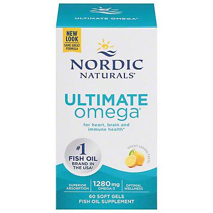 Nordic Naturals Ultimate Omega 1000 mg Soft Gels, Lemon,60 CT