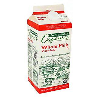 Central Market Organics Vitamin D Whole Milk, 1/2 gal
