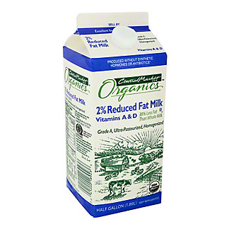 Central Market Organics Reduced Fat 2% Milkfat Milk, 1/2 gal