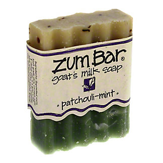 Indigo Wild Patchouli Mint Zum Bar Goats  Mild Soap,3 OZ