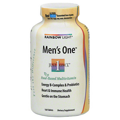 Rainbow Light Just Once Men's One Food-Based Multivitamin, 150 CT