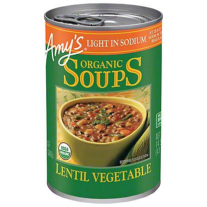 Amy's Organic Light in Sodium Lentil Vegetable Soup,14.5 OZ