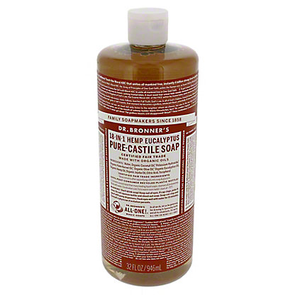 Dr. Bronner's 18-in-1 Hemp Eucalyptus Pure-Castile Soap,32 OZ