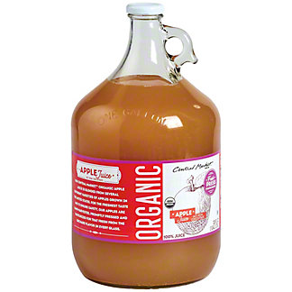 Central Market Organics 100% Fresh Pressed Apple Juice, 128 oz