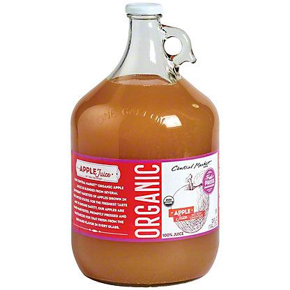 Central Market Organics 100% Fresh Pressed Apple Juice, 128 oz