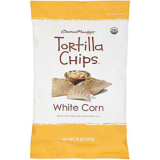 Central Market Organics White Corn Tortilla Chips With Sea Salt, 14 oz