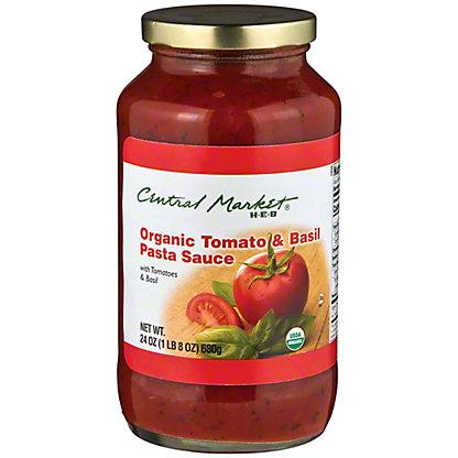 Central Market Organics Tomato & Basil Pasta Sauce, 24 oz