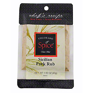 Colorado Spice Chef's Recipe Colorado Spice Sicilian Pork Rub,1.50 oz
