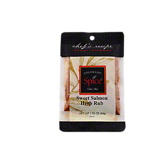 Colorado Spice Chef's Recipe Sweet Salmon Herb Rub,1.5 OZ