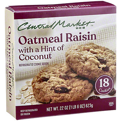 Central Market Central Market Refrigerated Oatmeal Raisin Cookie Dough,18 CT