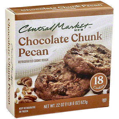 Central Market Central Market Refrigerated Chocolate Chunk Pecan Cookie Dough,18 CT
