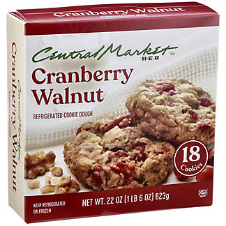 Central Market Refrigerated Cranberry Walnut Cookie Dough,18 CT