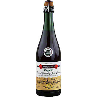Val de France Organic Sparkling Apple Pomegranate Juice, 25.4 oz