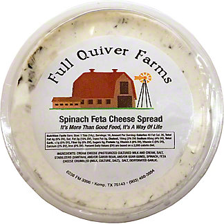 Full Quiver Farms Spinach Feta Cheese Spread,LB