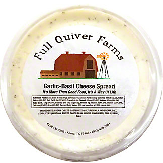 Full Quiver Farms Garlic Basil Cheese Spread,LB